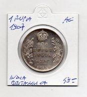 India - 1907 - 1 Rupia - Edoardo VII° - Argento - (MW1274) - Inde