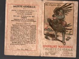 Calendrier 1919EMPRUNT NATIONAL SOCIETE GENERALE  (PPP12520) - Calendars