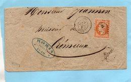 P.c.1819 LYON Sur N° - 1849-1876: Klassik