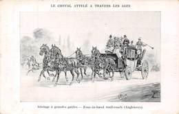 Attelage à Grandes Guides - Four In Hand Mail Coach Angleterre - Le Cheval Attelé à Travers Les Ages - Cartoline