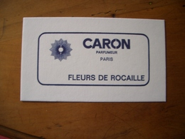 Carte Caron Fleurs De Rocaille - Perfume Cards