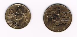JOEGOSLAVIE  10 + 20  DINARA  1963 - Yougoslavie