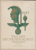 Amtliche FestpostkarteTag Der Deutschen Kunst München SSt MÜNCHEN 16.7.1937 - Ansichtskarten