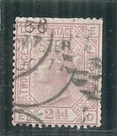 Grande Bretagne -- N° 56 - 2.5 Pence Côte  45€ Dents Courtes - Oblitérés