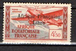 A E F ( AERIEN ) : Y&T  N°  17  TIMBRE  NEUF  AVEC  TRACE  DE  CHARNIERE , A  VOIR . - A.E.F. (1936-1958)