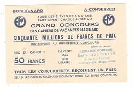 Buvard  Grand Concours De Vacances Magnard  Emile Queneutte 22 Rue De La République Creil 60 Oise - Stationeries (flat Articles)