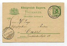 Bayern / Postkarte (Antwortteil) Mi. P 58II/02 O (5/533) - Bavaria