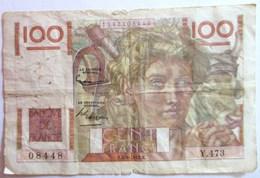 BILLET CENT 100 FRANCS BANQUE DE FRANCE JEUNE PAYSAN - 1871-1952 Anciens Francs Circulés Au XXème