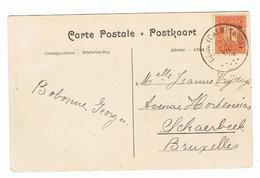 Carte VUE Oblit. HEIDE (CALMPTHOUT) 28 VII 1913 RARISSIME !! S CVHEIDE CALMPTHOUT SCHOOLVILLA DIESTERWEG. TP 108 - 1912 Pellens