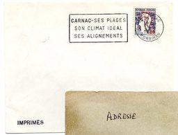 MORBIHAN - Dépt N° 56 = CARNAC 1966 = FLAMME Codée SUPERBE = SECAP  ' PLAGES / CLIMAT IDEAL / ALIGNEMENTS ' - Marcofilia (sobres)