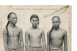 CPA / Carte COCHINCHINE / SAIGON / Chinois à Bord Des Chaloupes / Tampon Rég De Tirailleurs Annamites / 1909 - Vietnam