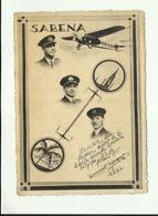 -  **SABENA  **  -Premier Départ -Belgique -Congo -2/1935 - Gesigneerd Door  De Bemanningsleden - Dirigeables