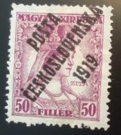 "1919 Yv. 99 * Signé Scheller ""POSTA CESKOSLOVENSKA"" Sur Hongrie (Tchécoslovaquie Czechoslovakia Tschechoslowakei - Cecoslovacchia"