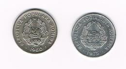 ROEMENIE  2 X 15 BANI  1960/1975 - Roumanie