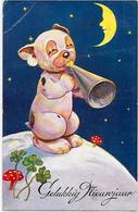 CPA BONZO Chien Dog Position Humaine Circulé Champignon - Cani