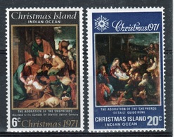 Christmas Island Set Of Stamps To Celebrate Christmas 1971. - Christmas Island