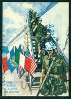 MILITARI - GUERRE-TRUPPE ITALIANE IN LIBANO - 1982 - Militaria