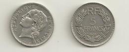 PIECE 5 FRANCS  1933  AYANT CIRCULEE - France