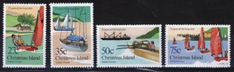 Christmas Island Set Of Stamps To Celebrate 25 Years Of The Boat Club 1983. - Christmas Island