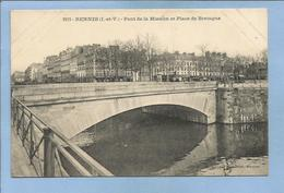 Rennes (35) Pont De La Mission Et Place De Bretagne 2 Scans - Rennes