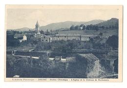 07 Jaujac, L'église Et Le Chateau De Rochemure (2795) L300 - Francia