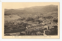 07 Jaujac, Vue Générale Et L'emplacement De L'ancien Volcan. Carte Inédite (2796) L300 - Frankreich