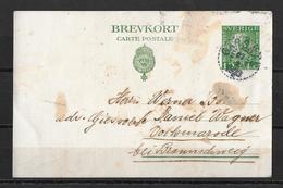 1923 Brefkort → Gärsnäs To Volkmarode Braunschweig - Entiers Postaux