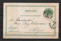 1891 Brefkort →  Rödjenäs To Nässjö - Entiers Postaux
