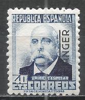 Tangier 1937. Scott #522 (M) Emilio Castelar * - Maroc Espagnol