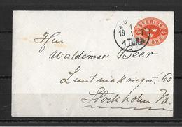 1911 Postal Stationary Tva Öre Stockholm - Entiers Postaux