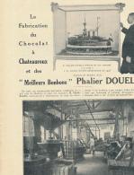 1926 : Document, CHATEAUROUX (36, INDRE), Chocolaterie Phalier Douelle, Biscuiterie, Confiserie, Personnel, Chabris... - Documents Historiques