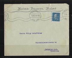 1931 Letter From Malmö (Malmä-Bazaren) To Leipzig - Suède