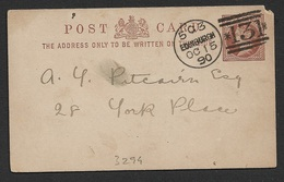 GB 1890 Private Postal Stationery Card - Victoria ½d - Philosophical Institution - Organizations