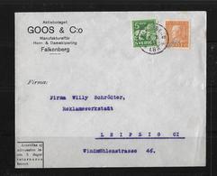1931 Letter Aktiebolaget GOOS & Co. Falkenberg To Leipzig - Suède