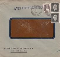 Lettre à Entête Huningue 1946 Société Alsacienne De Teinture - 1921-1960: Période Moderne
