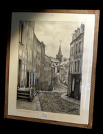 [NORMANDIE MANCHE] CAIGNART (G.) - [Dessin Original] / Granville - Rue Notre-Dame]. - Drawings
