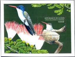 BIRDS-CARIBBEAN HUMMINGBIRDS-VIOLET CRONWED-MS-GUINEA-2002-SCARCE-MNH-M2-94 - Hummingbirds