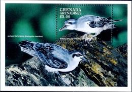 SEA BIRDS-ANTARCTIC PRION-BROAD BILLED PRION-MS-GRENADA-1998-SCARCE-MNH-M2-95 - Marine Web-footed Birds