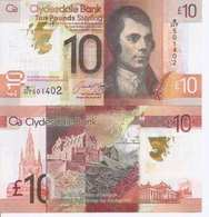 Scotland  New  10 Pounds  UNC   2017 - [ 3] Scotland