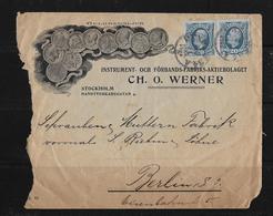 1902 Letter Instrument-och Förbands-Fabriks-Aktiebolaget Stockholm To Berlin ►RRR◄ - Suède