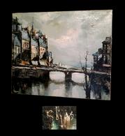 [ESPANA ?] ROJAS - [Huile Sur Toile, Signée] - Quais De Seine à Paris. - Oils