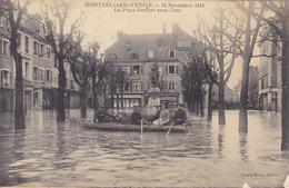 (51)   La Place Denfert Sous L' Eau 1913  (Voir état !!) - Montbéliard