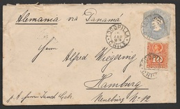 1899 Chile - Uprated Postal Stationery Envelope To Germany - Transatlantic - Via Panama - Chile