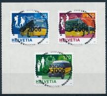 1192-1194 / 1956-1958 Serie Mit Ersttag - Vollstempel & Gummi - Schweiz