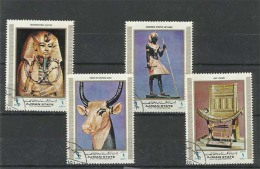 AES01101 Ajman 1972 Pharaonic Arts - Set Of 4 Stamps Used / CTO - Ajman