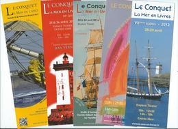 593 MP - LE CONQUET - SALON LA MER EN LIVRES - Années 2012 - 2013 - 2015- 2016 - 2017 - Bookmarks