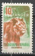 Tangier. #C (M) Telegrafo, Lion * - Télégraphe