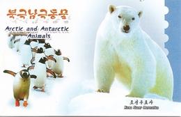 KOREA NORTH (DPR), 2013, Booklet 207 And 207a, Arctic And Antarctic Animals - Korea (Nord-)