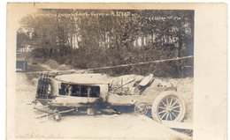 Course Paris - Madrid - Libourne - Accident à La Courbe Du Loup - Voiture De M. STEAD - Dos Simple 1903 - Sport Automobile