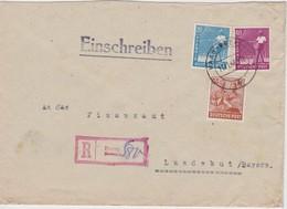 ALLEMAGNE 1947   ZONE AAS   LETTRE RECOMMANDEE DE HAAG SANS CACHET ARRIVEE - Gemeinschaftsausgaben
